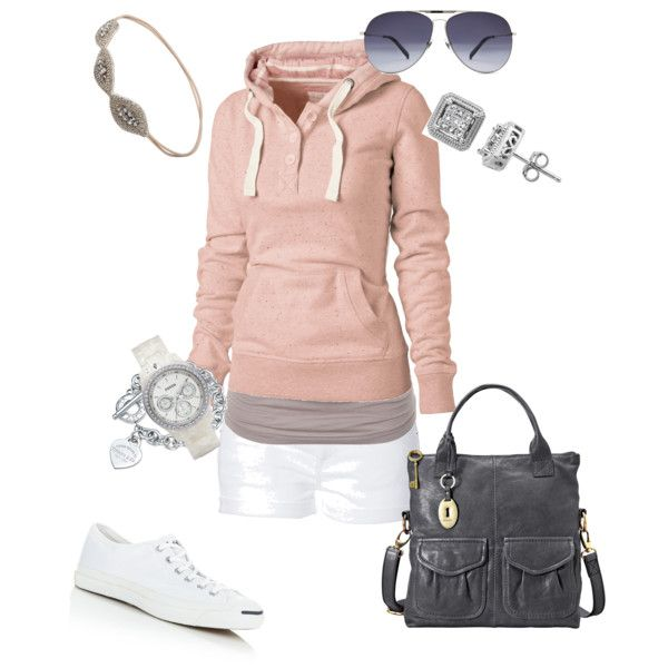 I like this for walking on the beach path, or strolling the farmer's market.  comfy weekend II, created by amf629.polyvore.com