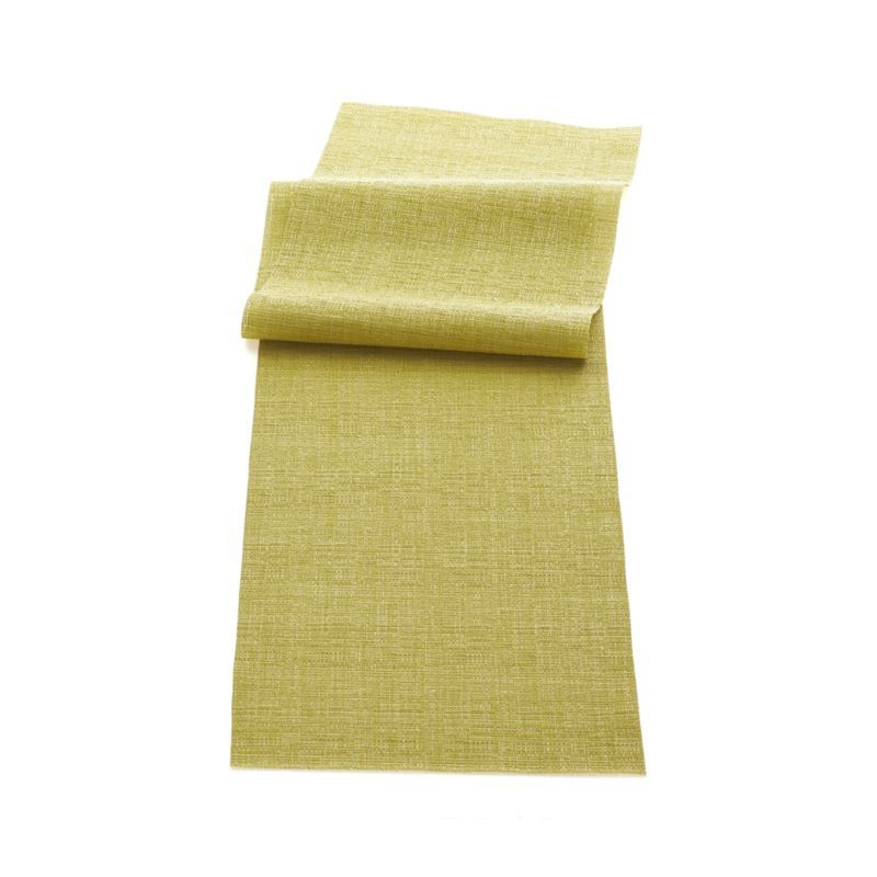 Chilewich Crepe Citron Runner Crate And Barrel With Images Crate And Barrel Rug Runners