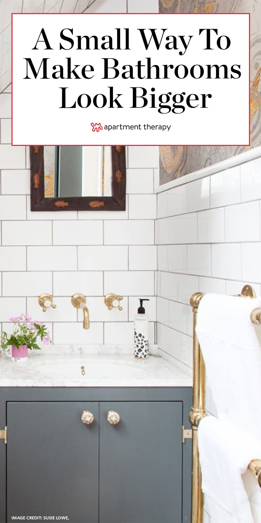 This One Tiny Tweak Will Make Your Small Bathroom Look So Much Bigger In 2020 Home Decor Quotes Cheap Rustic Decor Romantic Home Decor