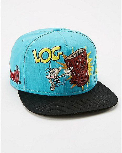 cheap for discount 6bf5f 89aa2 Ren   Stimpy Log Snapback Hat - Spencer s