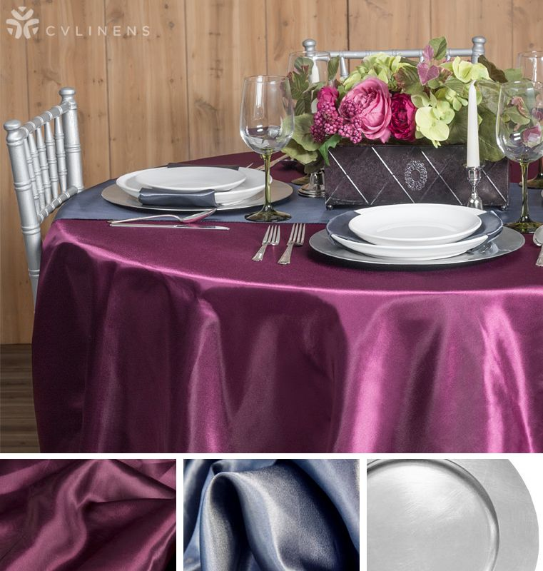 Refined And Sophisticated Sangria Pewter Silver Tablescape Color Scheme Perfect For A Wedding