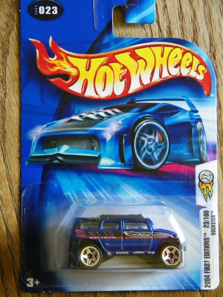 Hot Wheels 2004 First Editions Rockster 23//100 BLUE 023 1:64 Scale