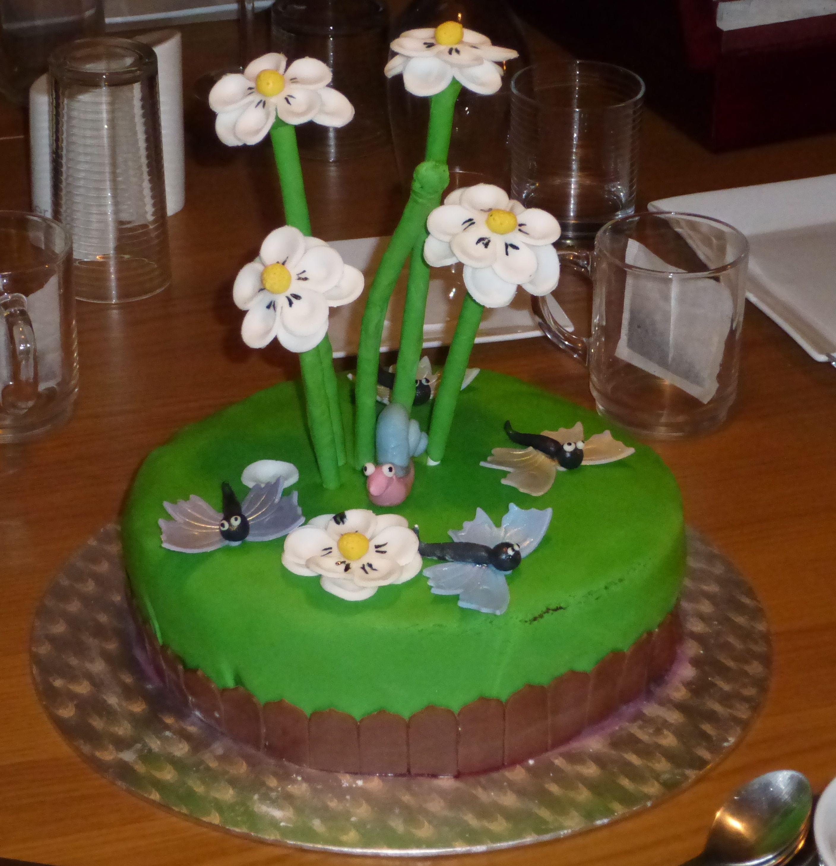 Flower power taart