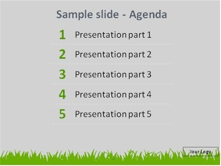 Free Baseball In The Grass Sketch Powerpoint Template Preview