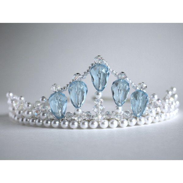 Something Borrowed and Something Blue Tiara ($31) ❤ liked on ...