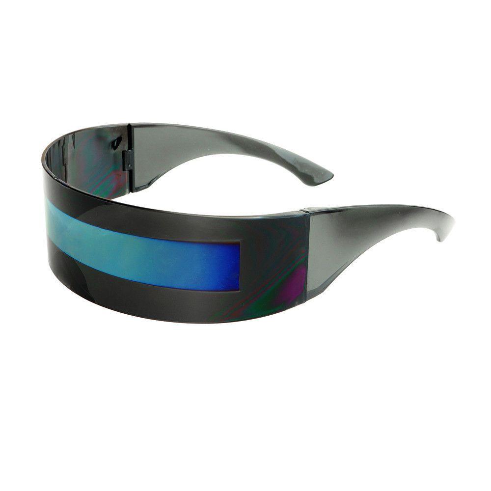 02da5dd3dd8 Cool Alien Robot Shield Mirror Lens Party Sunglasses P18 ...