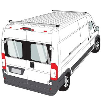 Promaster H3 Style 2 Bar Aluminum Roof Rack W End Caps Roof Rack Ladder Rack Ram Promaster