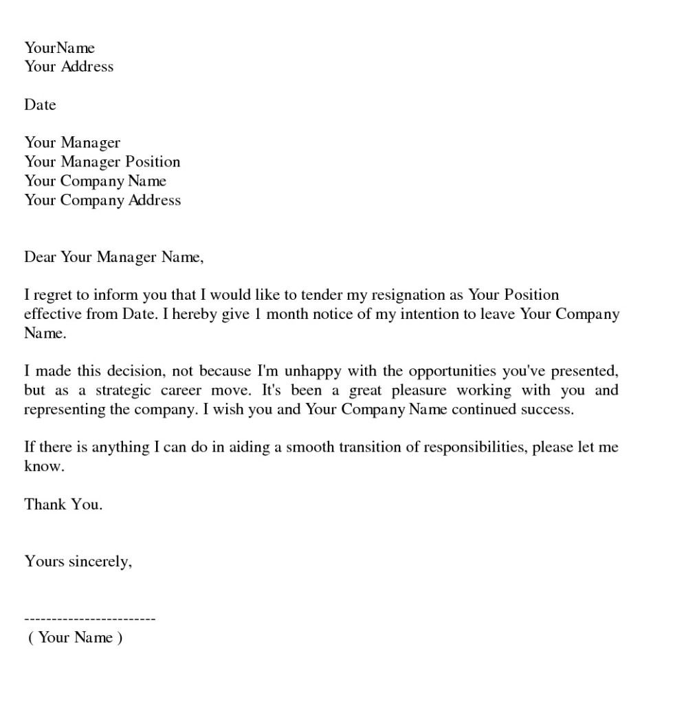 sample resignation letter writing professional letters - Example Of Letters Of Resignation