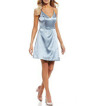 6750d2bdb4 GB Social Deep-V Wrap Skirt Dress