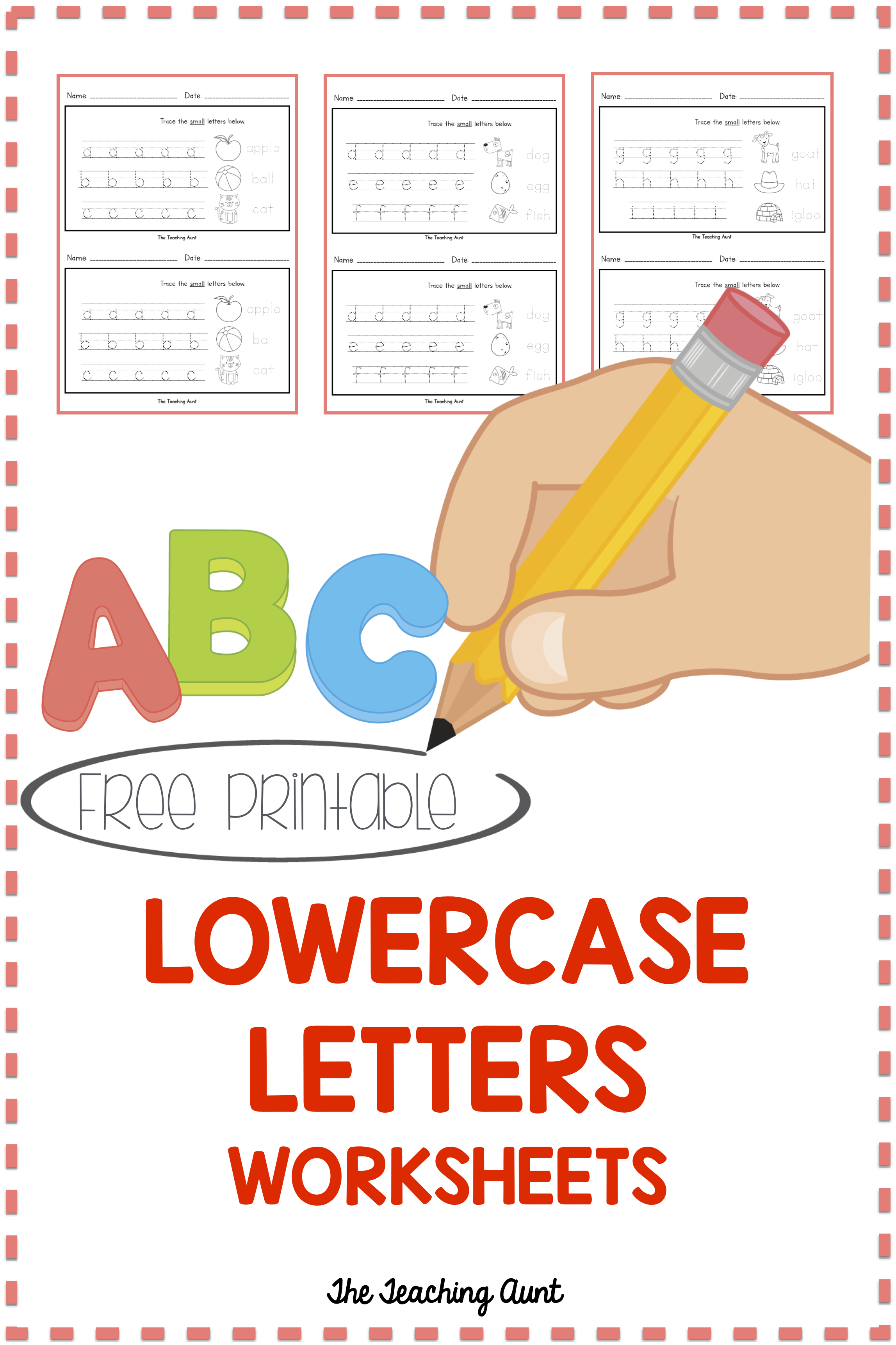 Lowercase Letters Tracing Worksheets Set 2