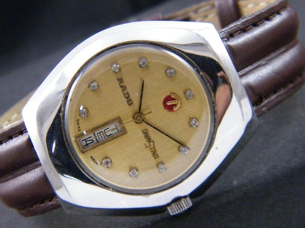 Vintage Rado Diastar Two Tone Ladies Wrist Watch With Diamonds Rado Dresscasualorsport Women Wrist Watch Vintage Watches Wrist Watch
