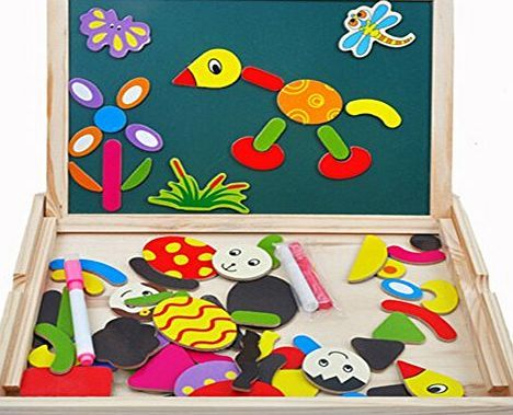 Tonze toys Wooden Writing Board Magnetic Jigsaw Puzzle Drawing - shidduch resume