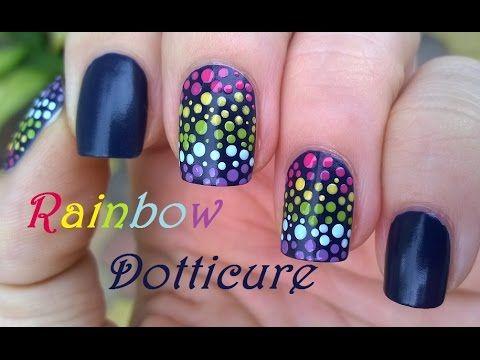 Rainbow Dots Nail Art Using Dotting Tool Diy Easy Nails For