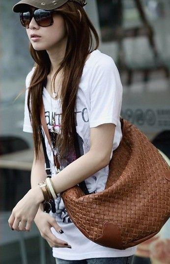 kupiti 2012 Nova verzija retro tkane torbe ramena torba Messenger torba modni školske torbe žena torbi iz madeinchina veletrgovac na ShopMadeInChina