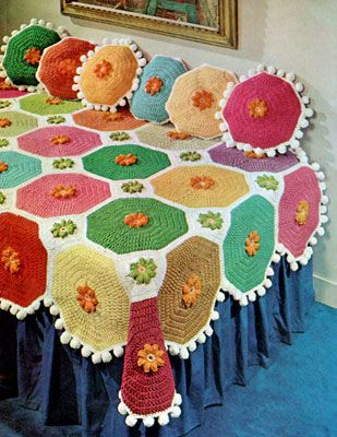 NEW BJG Colorful Throw & Pillows crochet patterns from American