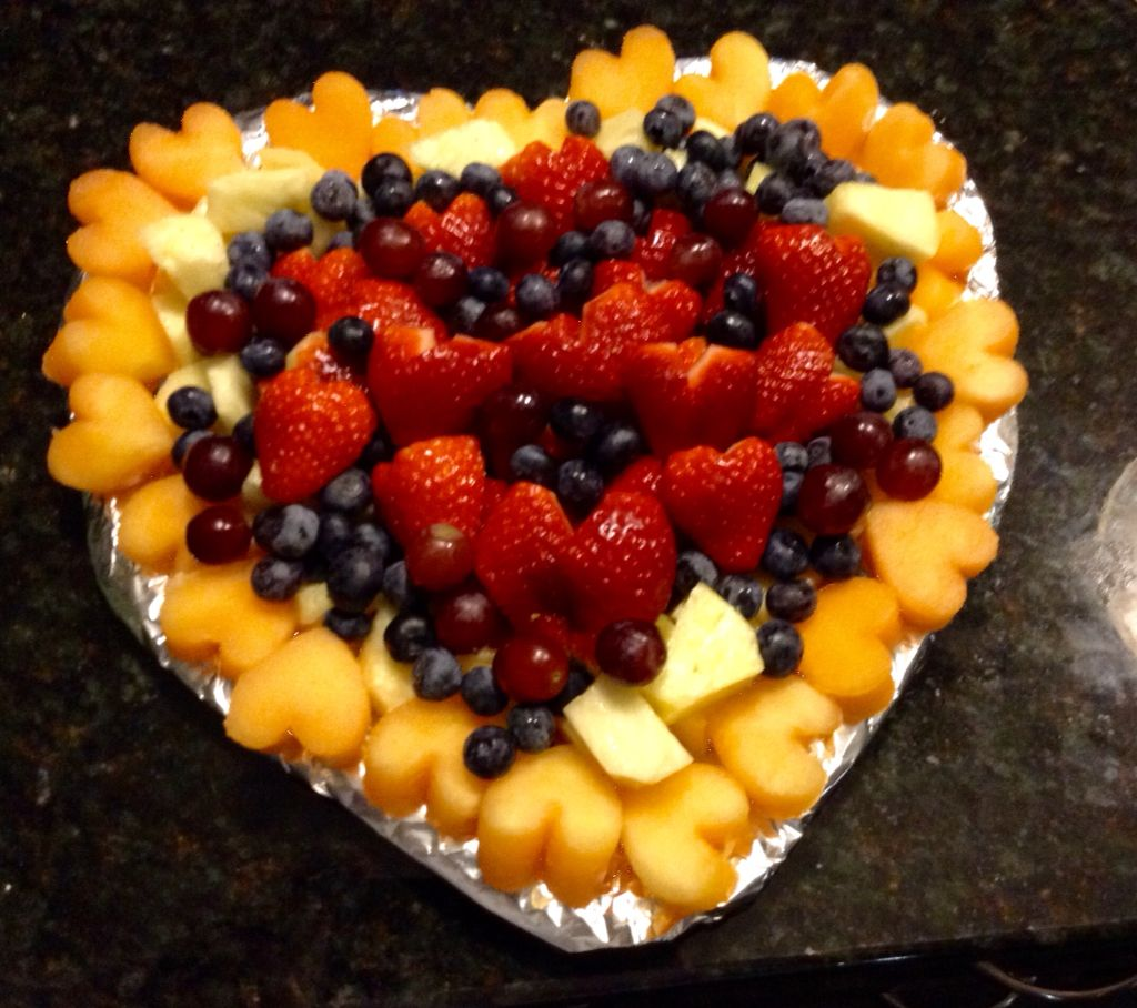 Valentine S Day Fruit Tray For My Daughter S School Party