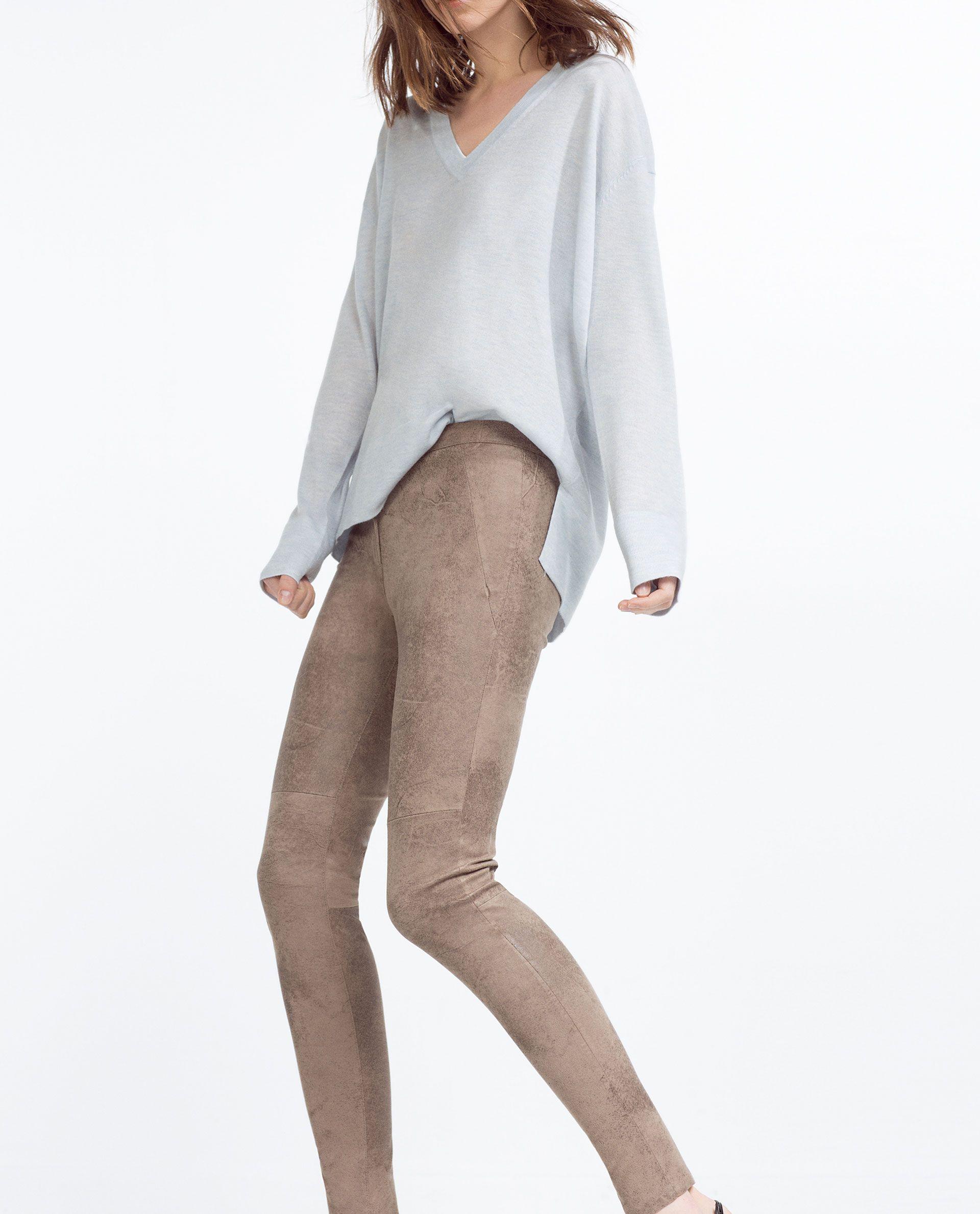 pantalon skinny effet daim tout voir pantalons femme. Black Bedroom Furniture Sets. Home Design Ideas