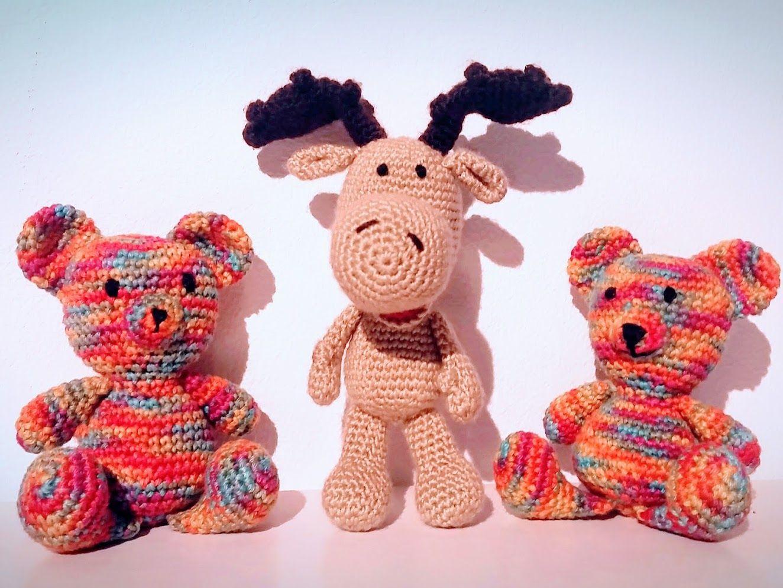 Amigurumitogo Moose : Amigurumi baby moose and teddy bears pattern includes also mom