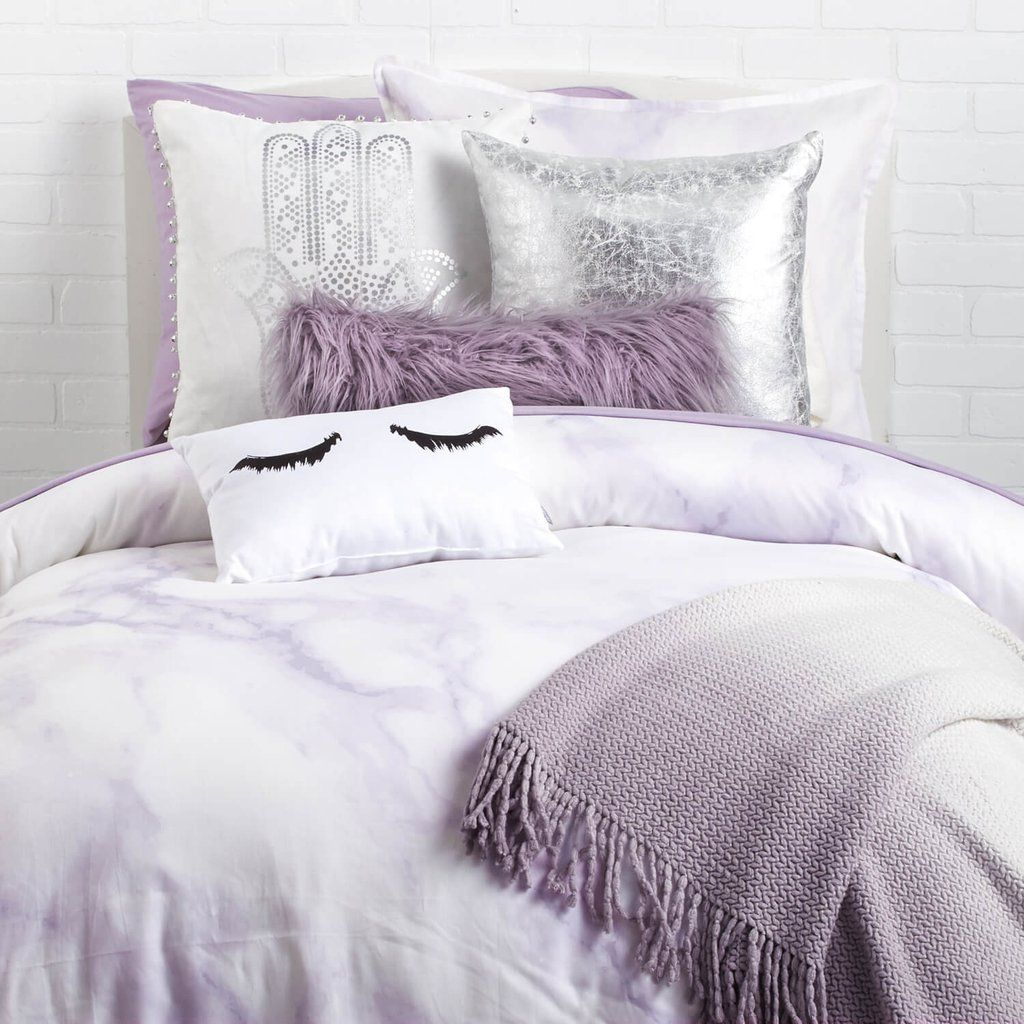 Wunderbar Lavender Marble Duvet Cover And Sham Set