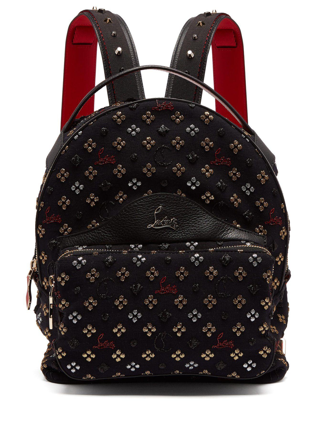 adc92af3ca9 Backloubi small glitter jacquard backpack | Christian Louboutin ...