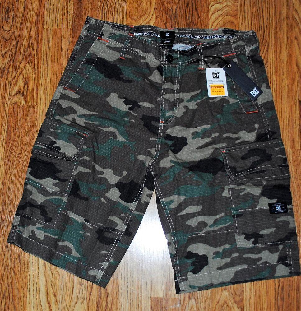 Mens Dc Ripstop Cargo Shorts Camo Design NWT Size 30 #DCShoeCo #Cargo