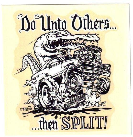 Vintage Ed Roth Decal Pontiac Gto Hot Rod Gasser Drag Racing Goat Old 1966 Nhra Ed Roth Art Car Artwork Rat Fink