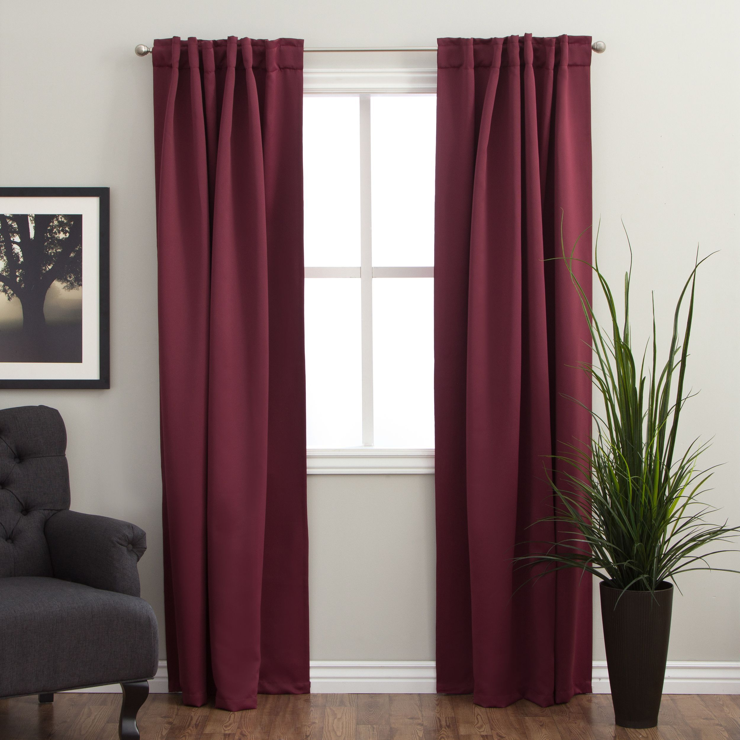 Arlo Blinds 84 Inch Insulated Back Tab Blackout Curtain