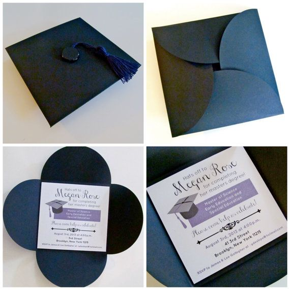 Custom HATS OFF Graduation Cap Party Invitation with by OohLaLlew, $4.50