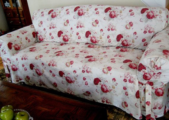 Slipcover Waverly Sofa Norfolk Rose Pattern Sure Fit Retro Slipcovers Beautiful Sofas Sure Fit