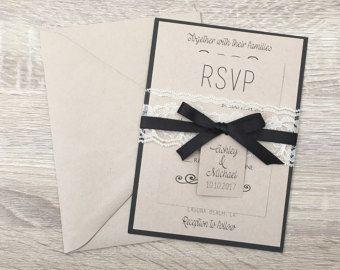 Invitation de mariage rustique, invitation de mariage de toile de jute, faire-part de mariage bleu marine, invitation de coeur en bois, marine invitation rustique