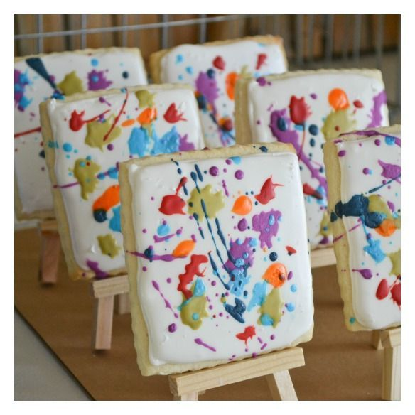 Canvas Cookies For Art Party