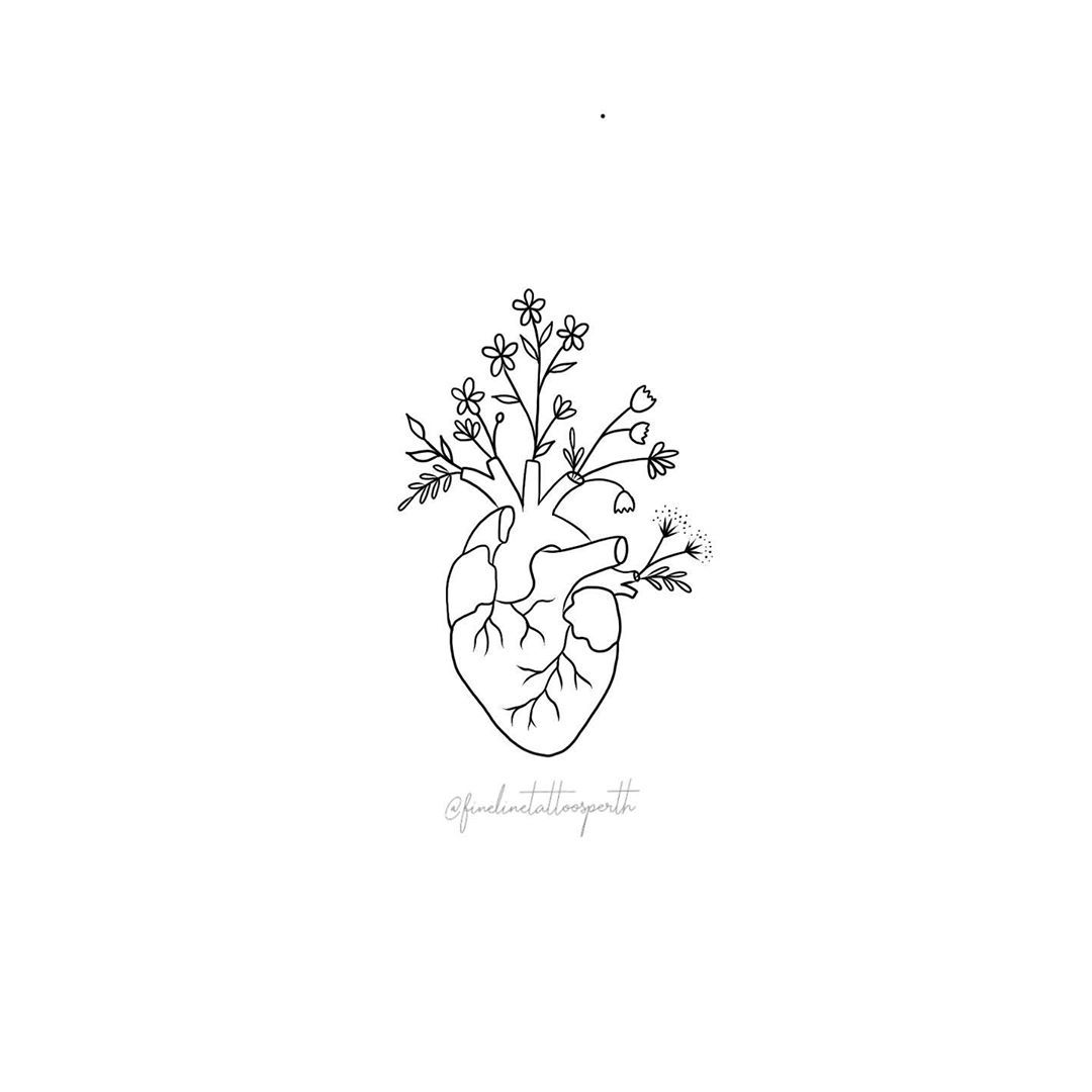 Tattoos By Emma On Instagram Make Your Heart The Most Beautiful Thing About You Line Art Tattoos Small Tattoos Line Art Drawings