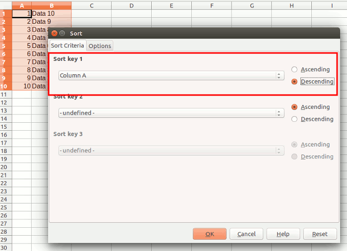 How to Reverse the Row Order in LibreOffice Calc [Quick Tips
