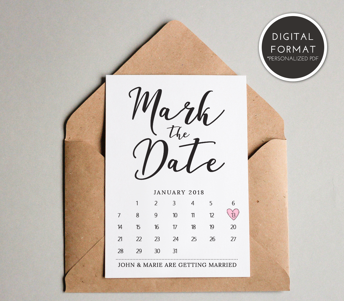 Mark The Date Template Download Wedding Save The Date Etsy Wedding Calendar Wedding Saving Wedding Save The Dates