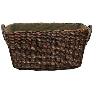 $19 Brown Rush Basket with Handles & Lining. HL. for towels