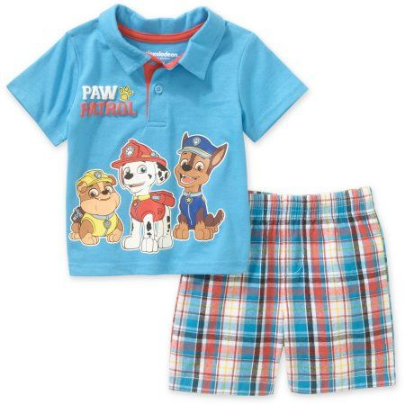 Walmart Baby Boy Clothes Magnificent Paw Patrol Newborn Baby Boy Polo And Shorts Outfit Set Blue  Products Design Inspiration