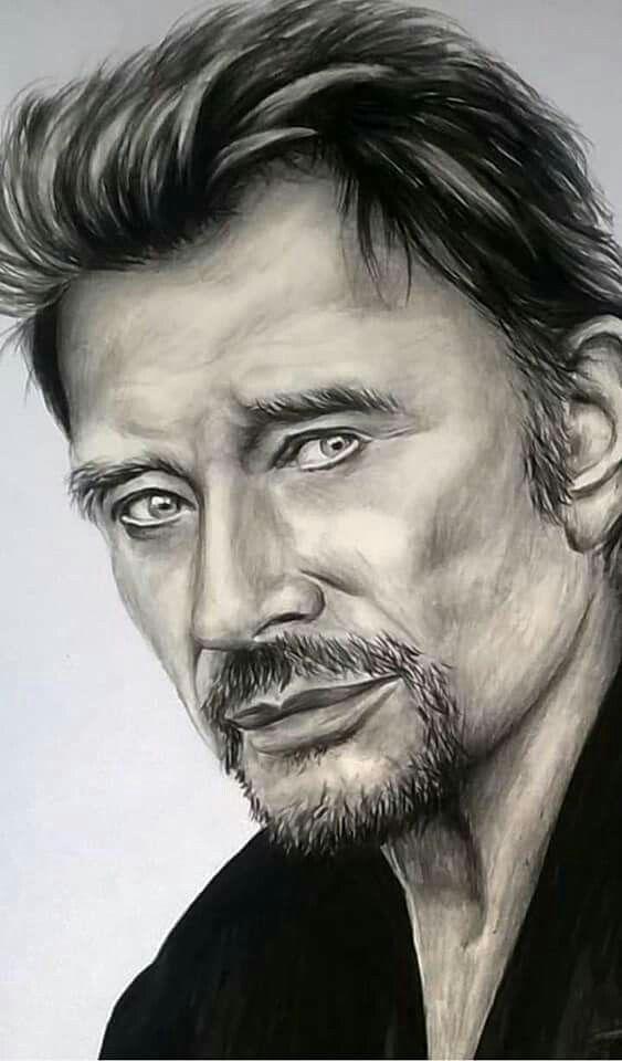 Johnny Hallyday (avec images) | Portraits de célébrités, Portrait dessin, Johnny hallyday