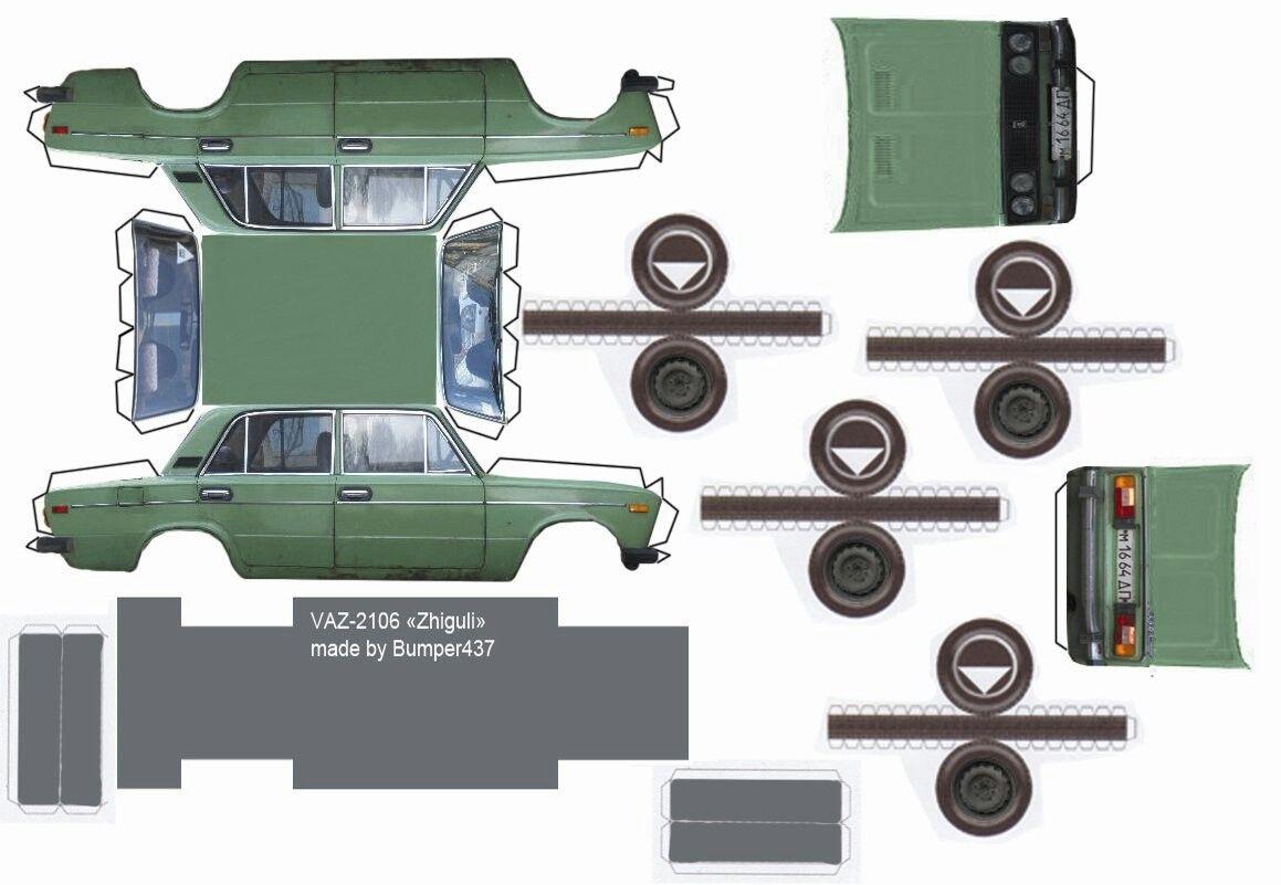 каждая маленькая фото машины из бумаги ваз ним связано