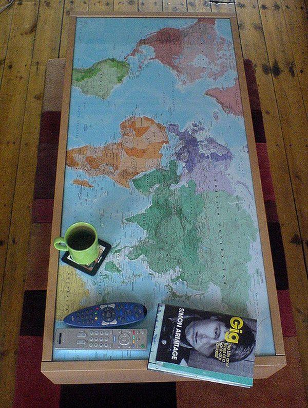 30 World Map Decorating Ideas   DesignDiPassione   Home/Decor ...