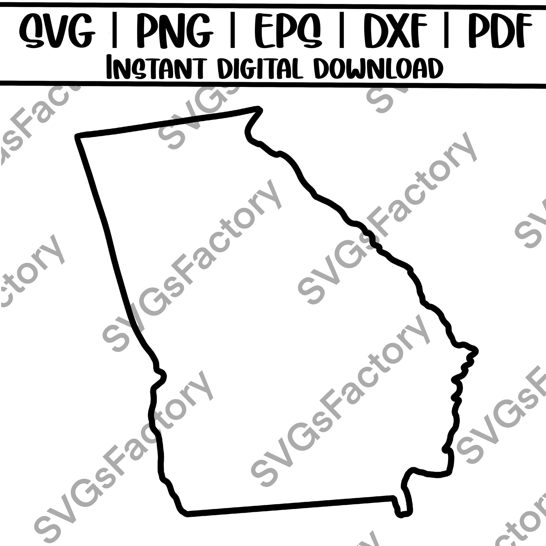 Georgia State Svg And Png Georgia Outline State Silhouette Etsy In 2021 Georgia Outline State Outline Blog Graphics