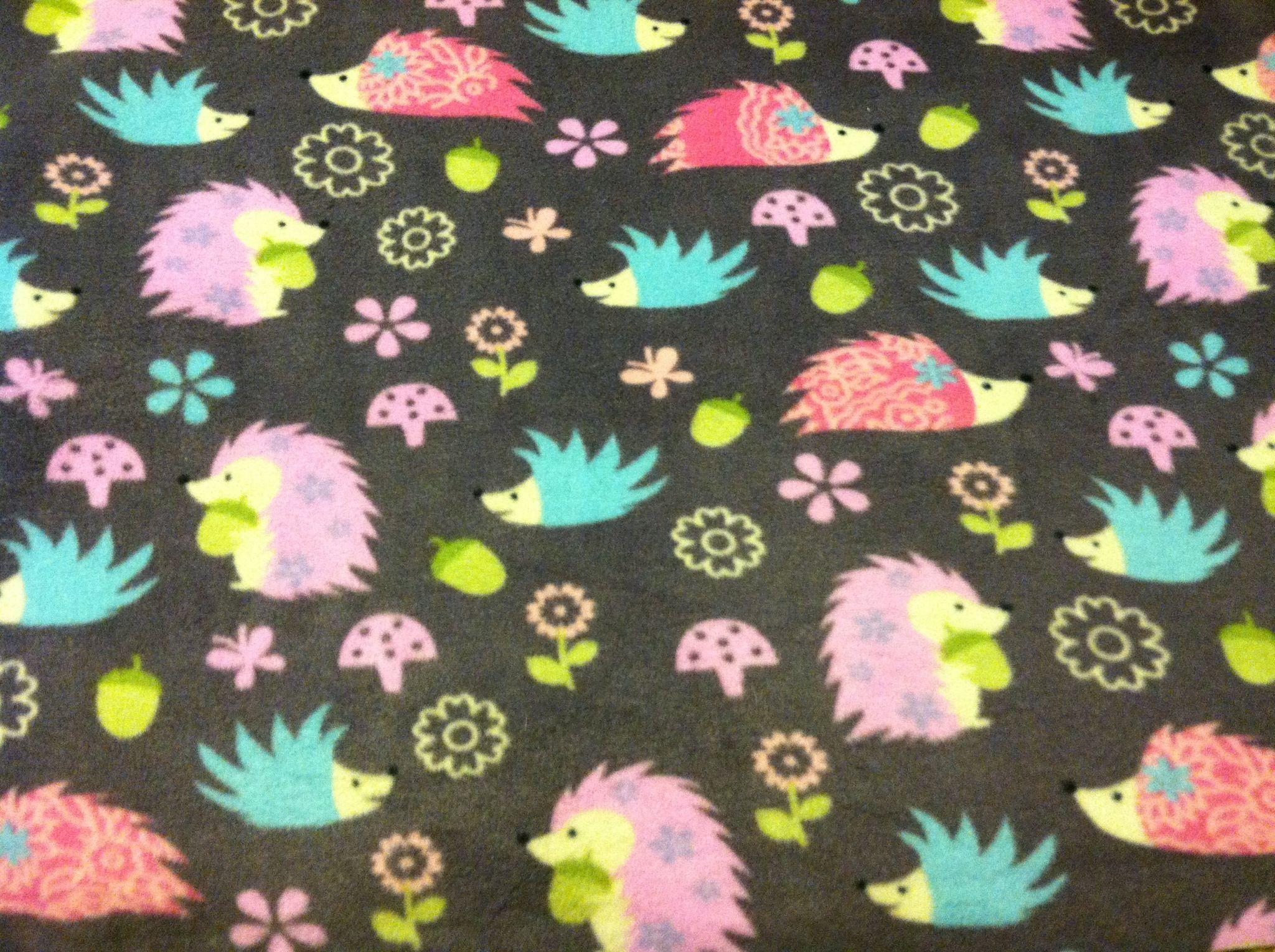 super cute hedgehog anti pill fleece available at joann fabrics