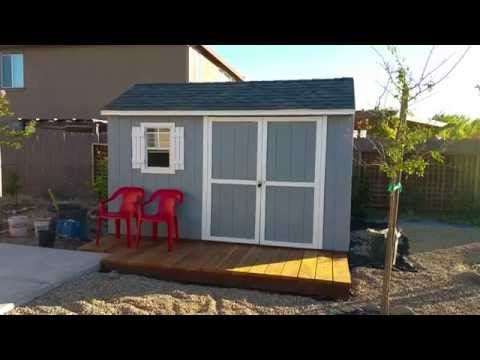 Stratford Wood Shed Assembly Time Lapse 12u0027 X 8u0027 And Review From Lowes