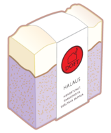 Halaus on hienostunut saippua, jossa laventeli ja patsuli sekoittuvat herkäksi tuoksuksi. Halaus on meidän bestseller!