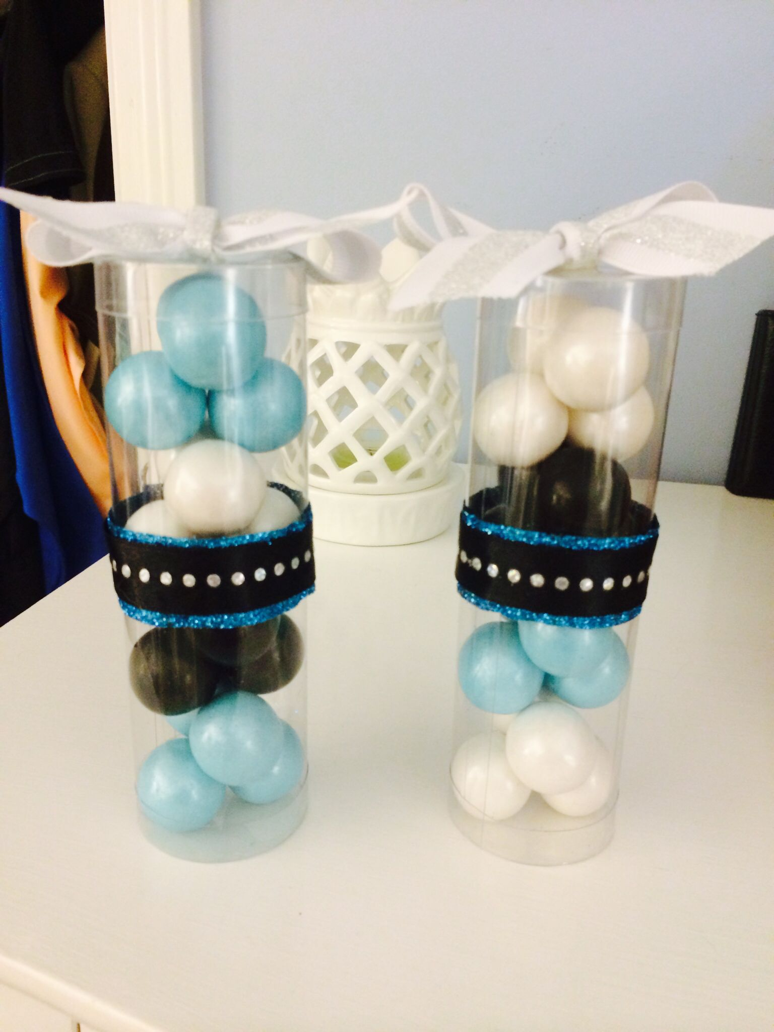 Teal, White & Black Sweet 16 Gumball Favors. | Sweet Sixteen ...