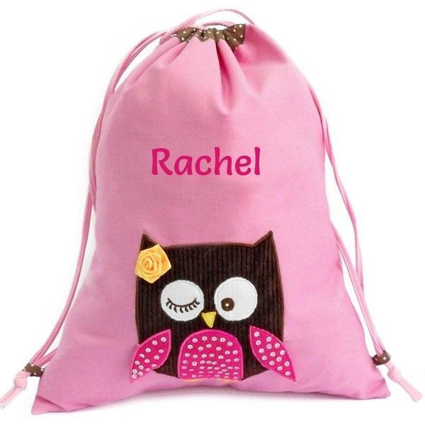 5e81771980 This stylish children s pink owl PE bag is perfect for storing your child s  PE kit or
