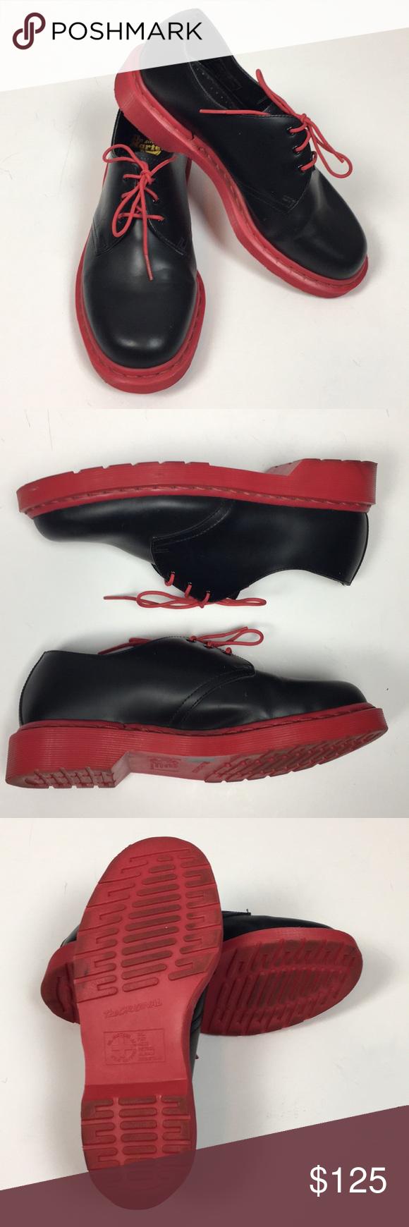 Dr. Martens Black w/ red Soles Shoes