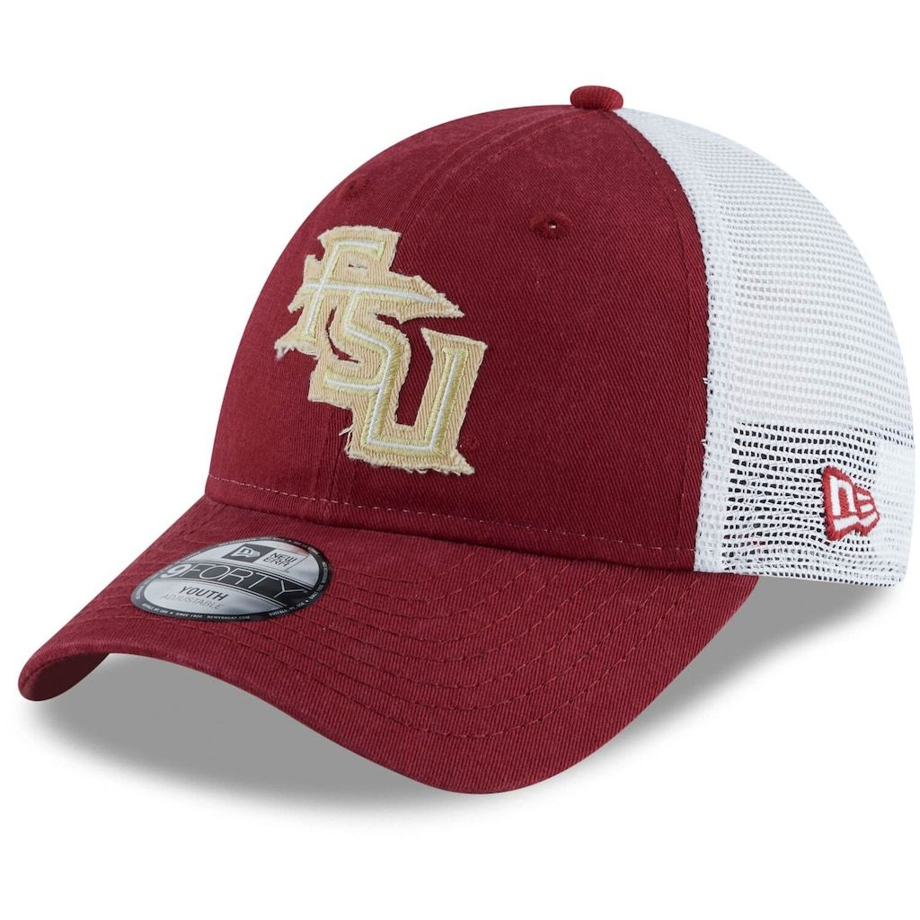 many styles reasonable price release date Youth New Era Garnet Florida State Seminoles Team 9FORTY ...