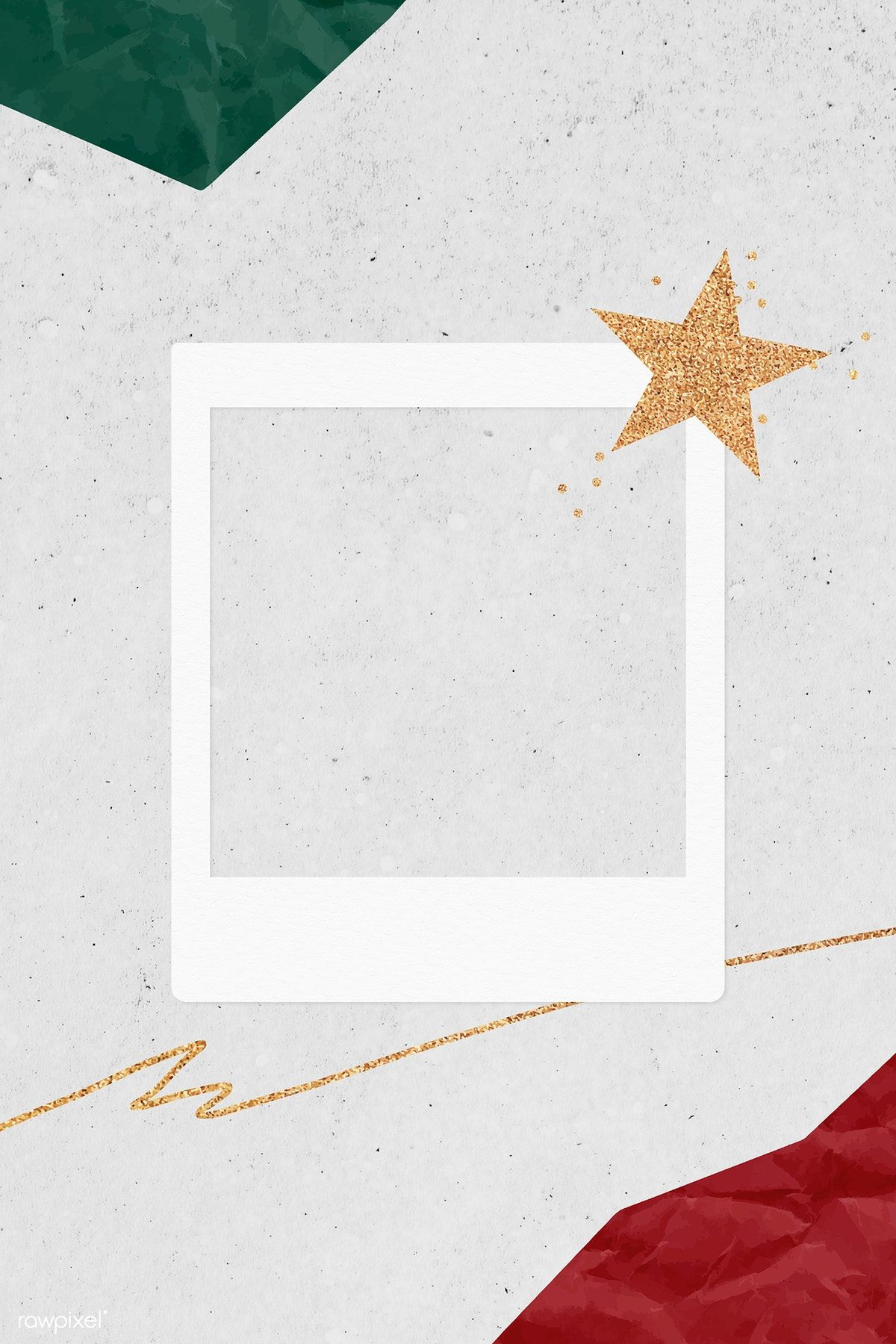 Download premium illustration of Christmas decorated blank instant photo