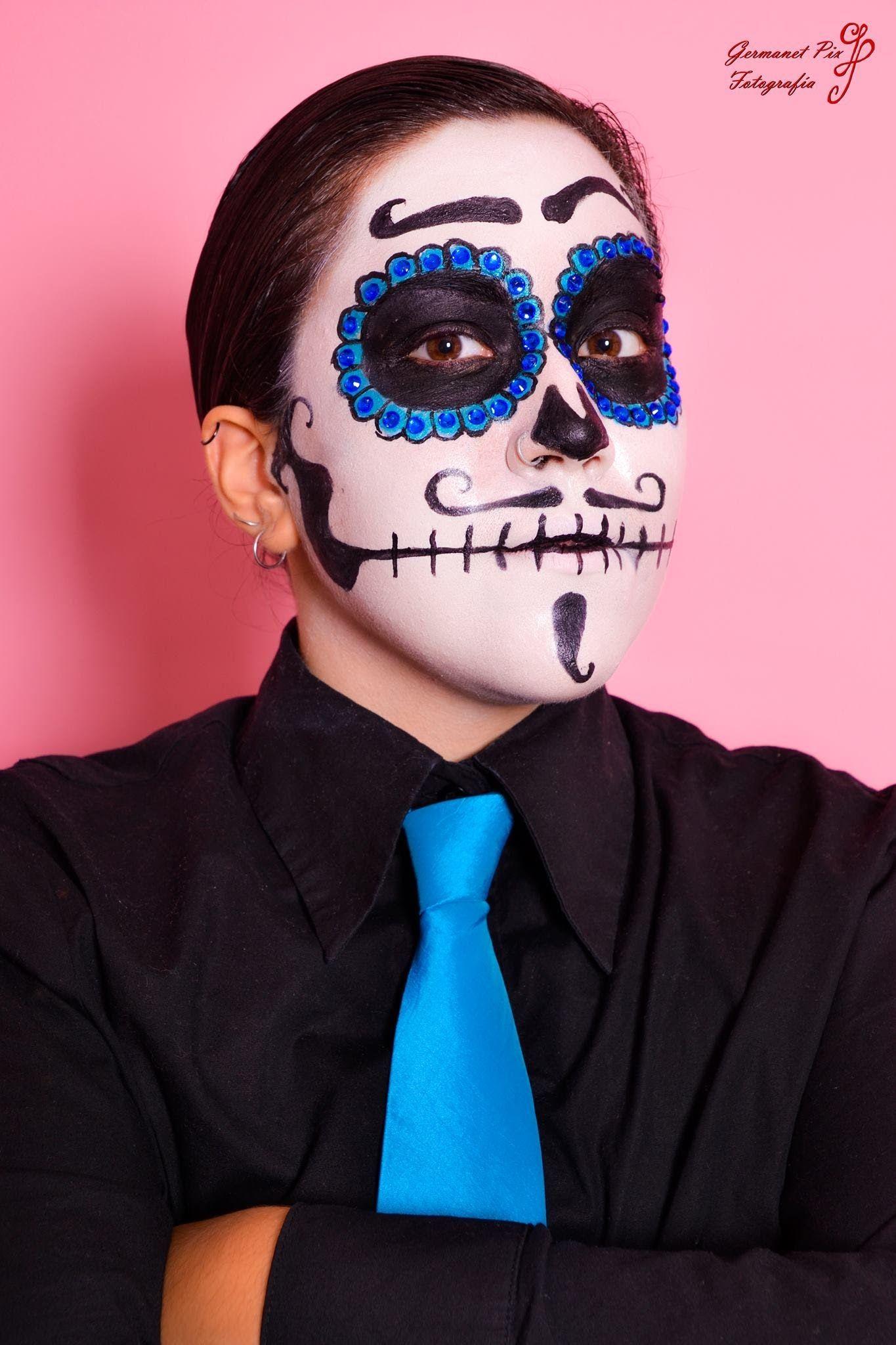 maquillaje disfraces catrina hombre especial halloween asth