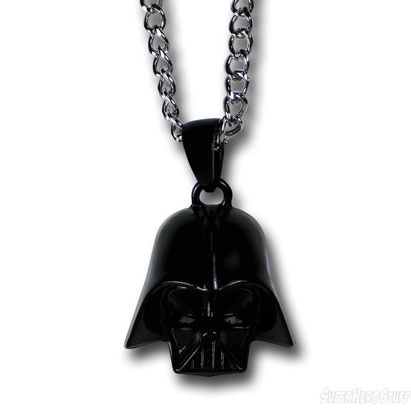 Star Wars Necklace Onyx Darth Vader Sterling Silver